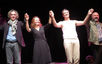 """A la première de """"La vie rêvée d'Helen Cox"""" le 21.09.2018 avec Christelle Reboul, Jean-Pierre Michaël et Christophe Lidon"""